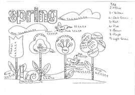 10 ticks calculator coloring book pages | Averages colouring activity by jamiesyko | Teaching Resources