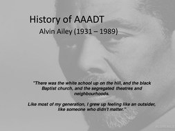 Alvin Ailey - Background and influences (AAADT)