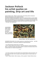 jackson pollock his artist quotes on drip painting life in modern american artistic art scene. Black Bedroom Furniture Sets. Home Design Ideas