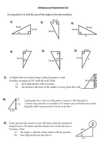 Pythagoras and Trigonometry Revision Lesson by nij1308 - Teaching ...