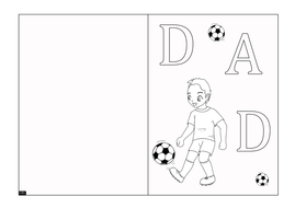 Blank Father's Day Card for Colouring