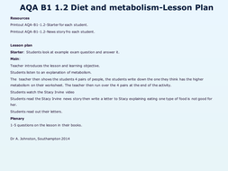 AQA-B1-1.2-Diet and metabolism-Lesson 1.pptx
