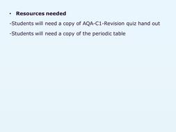 AQA-C1-Revsion quiz.pptx