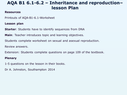 AQA-B1-6-Variation, reproduction & new technology