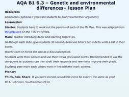 AQA-B1-6.3-Genetic and environmental differences.pptx