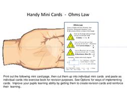 Mini Cards -  Ohms Law