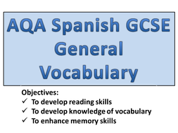 GCSE Spanish - General Vocabulary.pptx