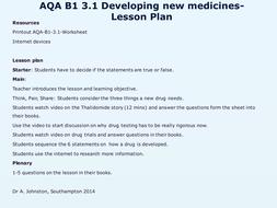 AQA-B1-3-Medicine and drugs