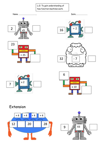 Worksheet Function Machine Worksheet function machines robots and monsters by emjb teaching resources 3 docx
