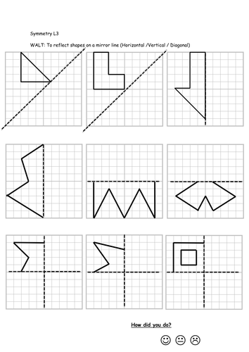 reflective symmetry worksheets by callen5 teaching resources tes. Black Bedroom Furniture Sets. Home Design Ideas