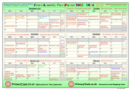 2013-2014 School Assembly Year Planner