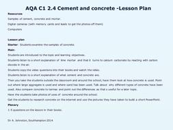 AQA-C1-2.4-Cement and concrete.pptx