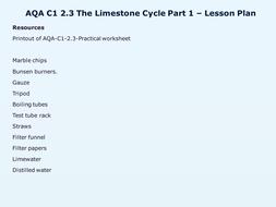 AQA-C1-2.3-Limestone cycle - 1.pptx