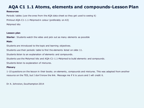 AQAC11Fundamental ideas by WonderCaliban Teaching Resources TES – Chapter 1 Introduction to Chemistry Worksheet Answers