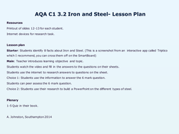 AQA-C1-3.2-Iron and Steel.pptx