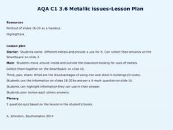 AQA-C1-3.6-Metallic issues.pptx