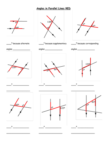 Identify Angle Relationships Formed By Parallel Lines Cut By A