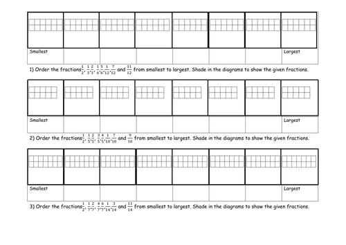 Ordering fraction activity and worksheet by jad518nexus - Teaching ...