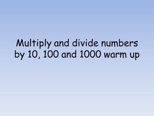 English In Italian: Multiplication By 10, 100 And 1000 By Jad518nexus