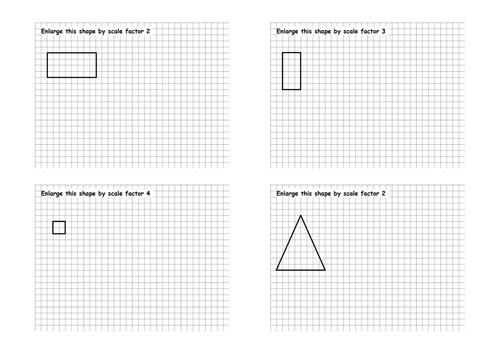 Enlargements Worksheet By Jad518nexus Teaching Resources