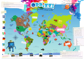 World map activity by oddizzigloballearning teaching resources tes world map activity gumiabroncs Choice Image