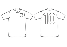 World Cup football strip templates by TES Resource Team