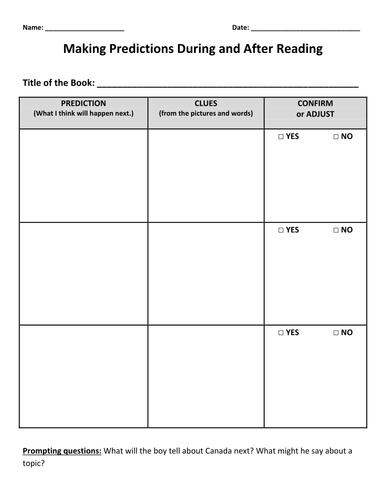 Making Predictions by kylegiesbrecht - Teaching Resources - TES