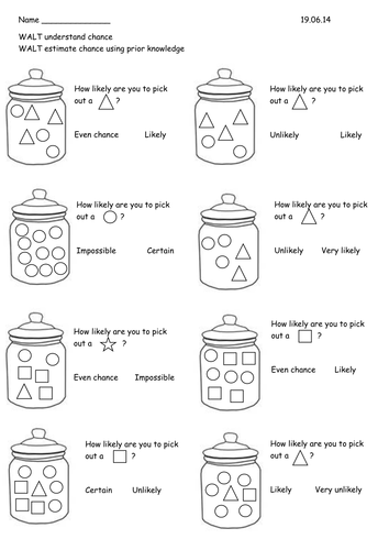 Year 2 Probability/Chance worksheets by RebeccaRemnant - Teaching ...