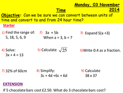 Converting units of time and 24 hour.pptx
