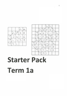 Maths Starter Booklets (inc puzzles, maths basics