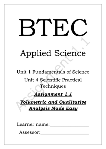 btec unit 4 assignment booklet Assignment booklet unit 14 this assignment booklet is available on the authors website: qualification and programme number unit number and title btec.
