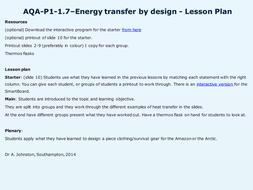 AQA-P1-1.7-Energy transfer by design.pptx