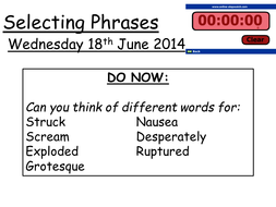 IGCSE Core paper selecting phrases