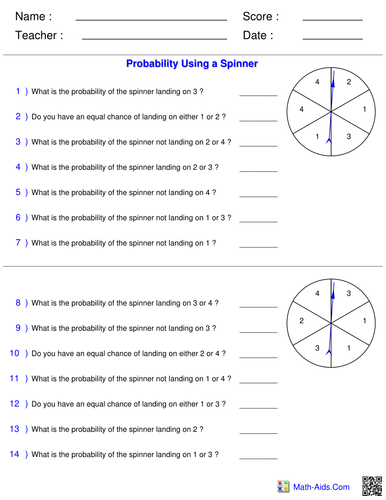 probability full lesson powerpoint worksheets by