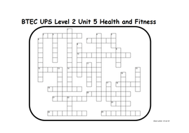 BTEC UPS Level 2 Improving Health and Fitness Unit