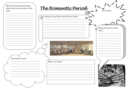 Worksheets Music History Worksheet musical history worksheets by esamson teaching resources tes the romantic period worksheet docx