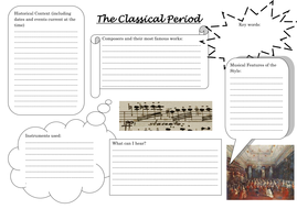 Musical History Worksheets by ESamson   Teaching Resources