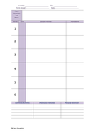 teachers daily planner 6 periods by hbw123 teaching resources tes