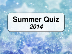 End of Year Quiz 2014