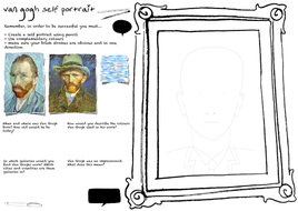 Van Gogh portrait worksheet