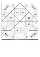 Times/multiplication table origami fortune tellers - Word and PDF!