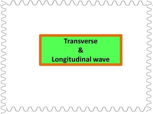 transverse longitudinal waves by drkknaga teaching resources tes. Black Bedroom Furniture Sets. Home Design Ideas