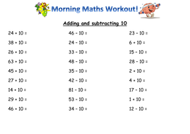 Year 2 mental maths skills