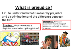What is prejudice? Intro lesson