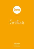 Well Done Certificate EYFS