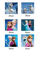 Frozen Peg Labels