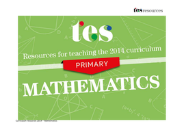 New curriculum 2014: Primary maths