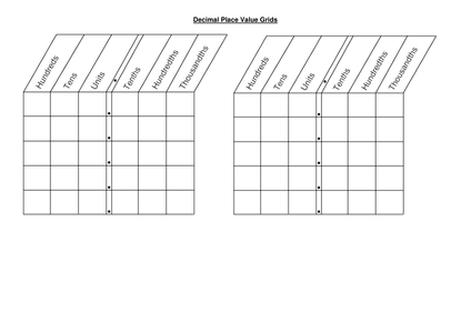 Free Worksheets » Place Value With Decimals Worksheets Pdf - Free ...