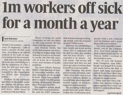 Story - Policies : 1m Workers Off Sick For 1 Month
