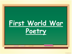 WWI Poetry Unit.pptx